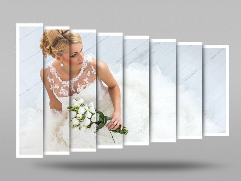 120 1 psd A4 RGB 300dpi - موکاپ لایه باز عکس عروسی با قاب های عمودی و قابلیت درج تصویر در طرح کاغذ تاشده مناسب آلبوم عکس