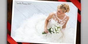 123 1 psd A4 RGB 300dpi 300x152 - قاب ، فریم و فون عکس لایه باز مناسب تصاویر عروسی با روبان های قرمز در سه مدل مختلف