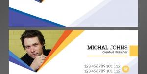 کارت ویزیت لایه باز شخصی مناسب مشاغل مختلف با دو رنگ زمینه مشکی و سفید