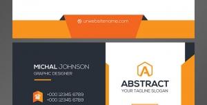 کارت ویزیت رسمی لایه باز مدیران و کارمندان با ترکیب رنگ سفید و نارنجی
