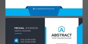 کارت ویزیت لایه باز رسمی مدیران و کارمندان با ترکیب رنگ سفید و آبی