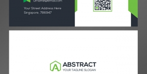 کارت ویزیت لایه باز شخصی کارمندان و مدیران با ترکیب رنگ سفید و سبز