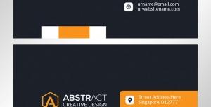 کارت ویزیت لایه باز شرکتی مخصوص اشخاص با طرح ساده و ترکیب رنگ نارنجی و زمینه مشکی