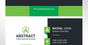 کارت ویزیت لایه باز رسمی و شخصی مناسب مشاغل مختلف با ترکیب رنگ سبز و زمینه مشکی و سفید