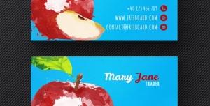کارت ویزیت لایه باز با طرح سیب مناسب جهت مناسب باغداران ، انبارداران میوه و فروشندگان میوه و تره بار