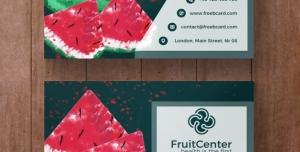 کارت ویزیت لایه باز با طرح هندوانه مناسب جهت مناسب باغداران ، انبارداران میوه و فروشندگان میوه و سیفی جات