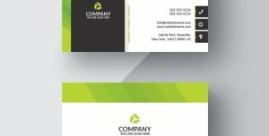 کارت ویزیت لایه باز شرکتی یا شخصی با زمینه سفید و رنگ سبز پسته ای