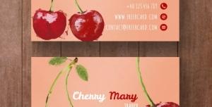 کارت ویزیت لایه باز با طرح گیلاس مناسب جهت مناسب باغداران ، انبارداران میوه و فروشندگان میوه و تره بار