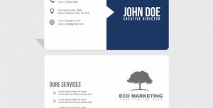 کارت ویزیت لایه باز شخصی و رسمی برای کارمندان و مدیران به رنگ سرمه ای و سفید