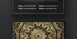 248 psd CMYK 300dpi 300x152 - کارت ویزیت با طرح زیبای طلایی روی زمینه مشکی مناسب مدیران و هنرمندان