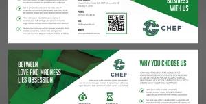 بروشور سه لت لایه باز تبلیغات شرکت بازاریابی جهت رشد و توسعه تجارت شرکت های بازرگانی