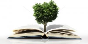 عکس با کیفیت رشد نمادین درخت از کتاب جهت تبلیغ فرهنگی مطالعه و کتابخوانی