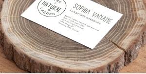 موکاپ کارت ویزیت جدید زیبا با تم چوب