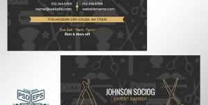 کارت ویزیت لایه باز ویژه آرایش و پیرایش آقایان و آرایشگران حرفه ای آقایان