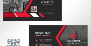 کارت ویزیت لایه باز شخصی ویژه مهندسین ساختمان و مدیران شرکت های تجاری با رنگ بندی مشکی و قرمز