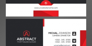 کارت ویزیت لایه باز شخصی با رنگ بندی ها و طرح ساده و زیبا با رنگ غالب مشکی و سفید