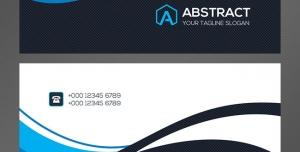 کارت ویزیت لایه باز شخصی با طراحی موج شکل رنگ های سفید و مشکی در چهار رنگ بندی
