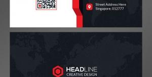 کارت ویزیت لایه باز تبلیغاتی شخصی جهت معرفی مدیران با زمینه تصویر قاره ها و رنگ غالب مشکی