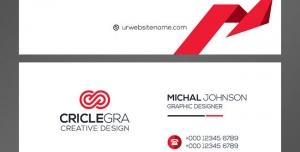 کارت ویزیت لایه باز رسمی و ساده شخصی با رنگ زمینه سفید و قرمز