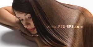 عکس با کیفیت خانم باموهایی زیبا برای سالن های آرایشی
