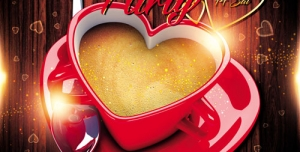 p146 300x152 - تراکت و پوستر لایه باز فنجان و نعلبکی قلبی شکل طرح ولنتاین + PSD
