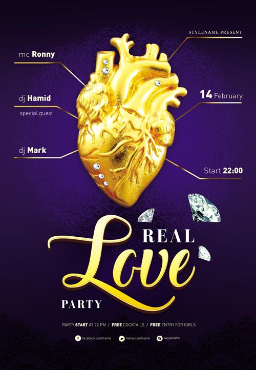 p72 - تراکت و پوستر لایه باز طلا و جواهر فروشی و جواهرات + PSD