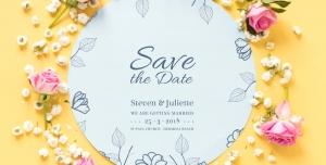 s8 psd a4 300x152 - لایه باز قاب گل بسیار زیبا که می توان به عنوان کارت دعوت و یا تبریک ساده عروسی استفاده کرد