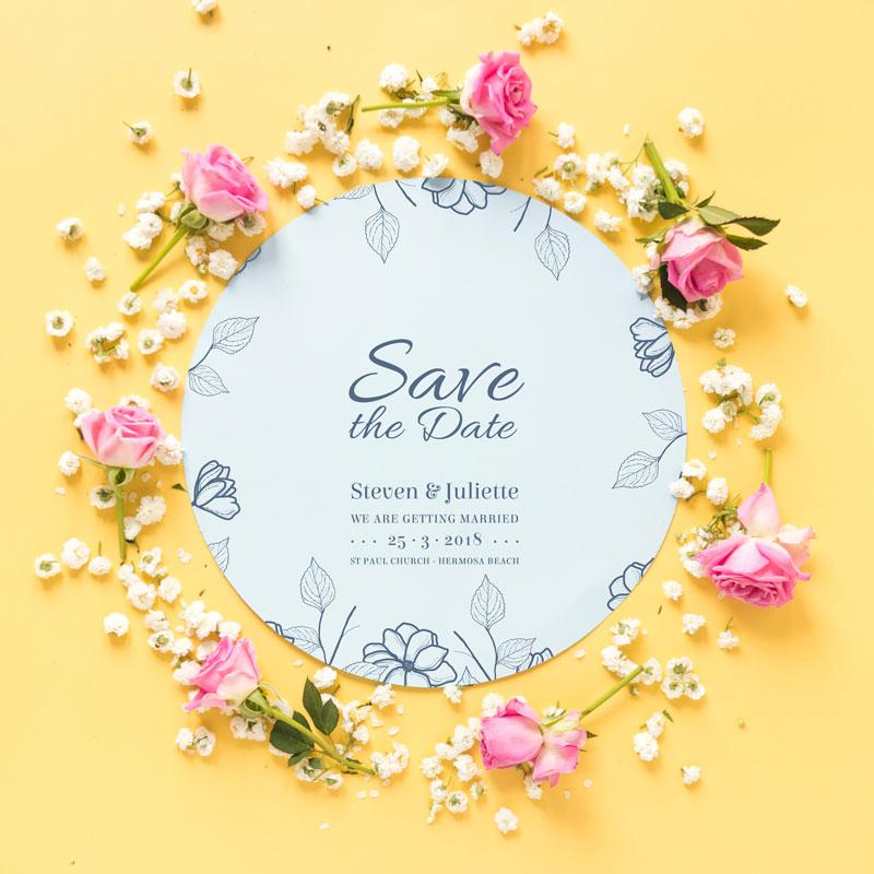لایه باز قاب گل بسیار زیبا که می توان به عنوان کارت دعوت و یا تبریک ساده عروسی استفاده کرد