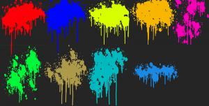 دانلود براش رنگ های پاشیده شده برای فتوشاپ