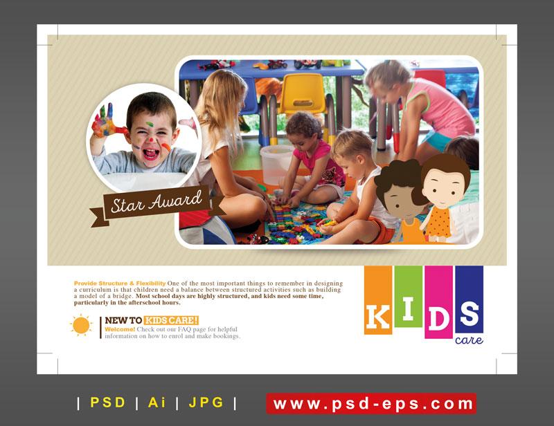 250 1 Ai psd A5 CMYK 300dpi - تراکت یا پوستر لایه باز تبلیغاتی بازی گروهی کودکان در مهدکودک با اسباب بازی
