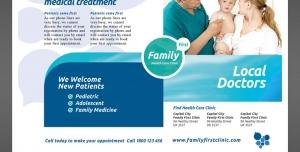 پوستر یا تراکت لایه باز پزشک عمومی خانواده یا متخصص اطفال و کودکان با امکان درج توضیحات