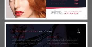 تراکت یا پوستر لایه باز تبلیغاتی آرایشگاه یا سالن زیبایی بانوان بویژه مناسب کوتاهی و رنگ مو