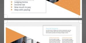 تراکت یا پوستر لایه باز تبلیغات بازاریابی ، حسابداری ، بازرگانی و مدیریت شرکت های بزرگ تجاری