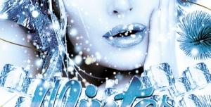 تراکت و پوستر لایه باز طرح دختر زمستان + PSD