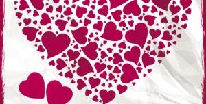 تراکت و پوستر لایه باز ولنتاین یا روز عشق طرح قلب + PSD