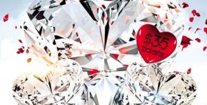 تراکت و پوستر لایه باز ولنتاین یا روز عشق طرح قلب الماسی + PSD