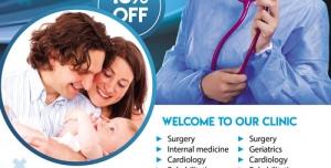تراکت و پوستر لایه باز پزشکی و مامایی + PSD