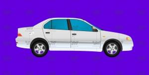 دانلود وکتور خودرو سمند لایه باز