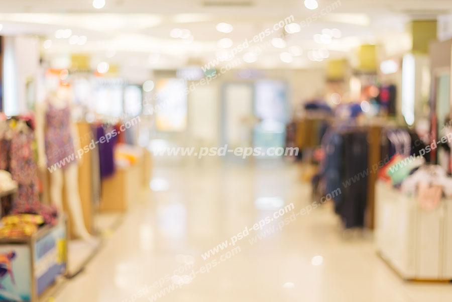 عکس با کیفیت فروشگاه انواع لباس بصورت محو و ویژه استفاده در بک گراند و پس زمینه در امور تبلیغاتی و تجاری طراحی کاتالوگ ، بروشور و تراکت با موضوع فروشگاه های دارای تخفیف انواع لباس ، کیف و کفش زنانه و مردانه و بچه گانه