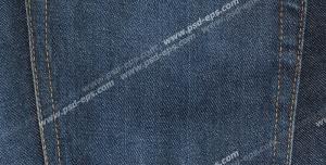 عکس با کیفیت نمای نزدیک از جیب شلوار لی آبی تیره با دوخت زرد رنگ ویژه استفاده در امور تبلیغاتی و تجاری طراحی کاتالوگ ، بروشور و تراکت با موضوع خیاطی ، تولیدی لباس ، آموزش خیاطی یا موسسات فنی و حرفه ای آموزش مقدماتی تا حرفه ای