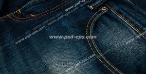 عکس با کیفیت شلوار لی با رنگ آبی تیره با نمای نزدیک از جیب آن ویژه استفاده در امور تبلیغاتی و تجاری طراحی کاتالوگ ، بروشور و تراکت با موضوع فروشگاه شلوار لی یا فروش دارای تخفیف لباس و شلوار لی