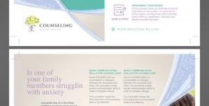 تراکت یا پوستر لایه باز تبلیغاتی دفاتر مشاوره ای و دوره های آموزشی روانشناسی و مهارت های زندگی