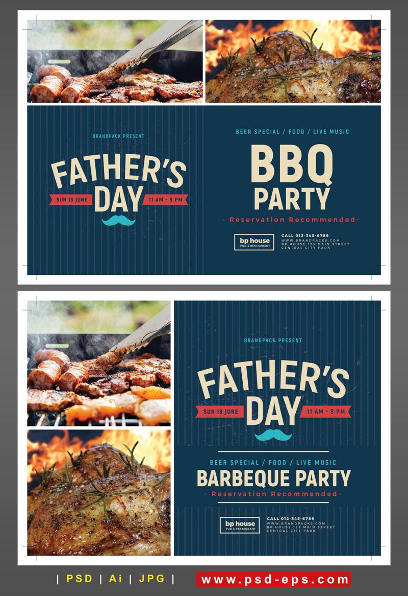 تراکت لایه باز تبلیغاتی کباب پز یا وسایل پخت و پز در تفرجگاه ها یا مهمانی ها و جشن ها و دورهمی های خانوادگی