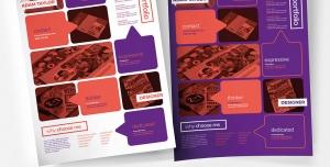رزومه و نمونه کار لایه باز تبلیغاتی و کارجویی برای انواع مشاغل بخصوص طراحان و گرافیست ها