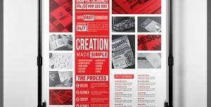 پوستر نمونه کار یا رزومه لایه باز جهت ارائه نمونه کار و رزومه شخصی برای کاریابی