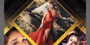 پوستر لایه باز تبلیغاتی عکاسی و آتلیه عروس و اسپرت با طراحی با فتوشاپ