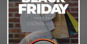 پوستر لایه باز تبلیغاتی با تخفیف ویژه برای جمعه ها و ایام تعطیل جهت فروشگاههای لباس بانوان