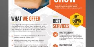 تراکت یا پوستر لایه باز تبلیغاتی ارتقای بازاریابی در مشاغل و حرفه های فنی با بهترین خدمات