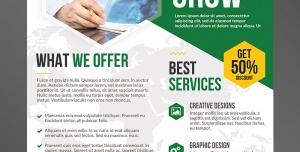 تراکت یا پوستر لایه باز تبلیغاتی سبز رنگ ارتقای بازاریابی در مشاغل و تخصص های پزشکی و درمانی