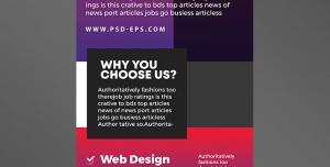 دانلود رایگان استند یا رول آپ بنر لایه باز تبلیغاتی قرمز و بنفش رنگ شرکت های ایده پردازی ، برنامه نویسی و طراحی سایت خلاقانه و مدرن